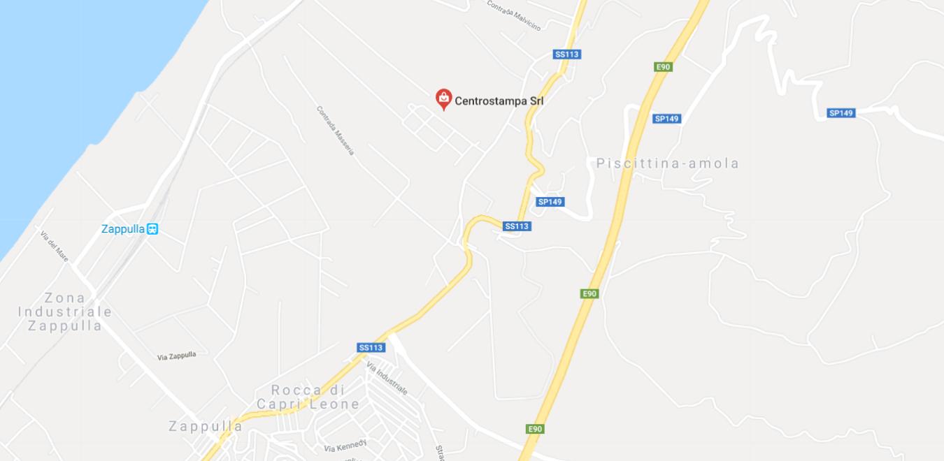 mappa stradale per centrostampa